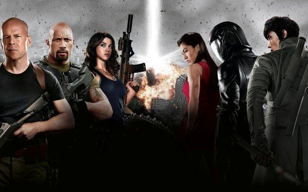 Movie G.I. Joe: The Rise of Cobra G.I. Joe Cast Dwayne Johnson Bruce Willis HD Wallpaper | Background Image