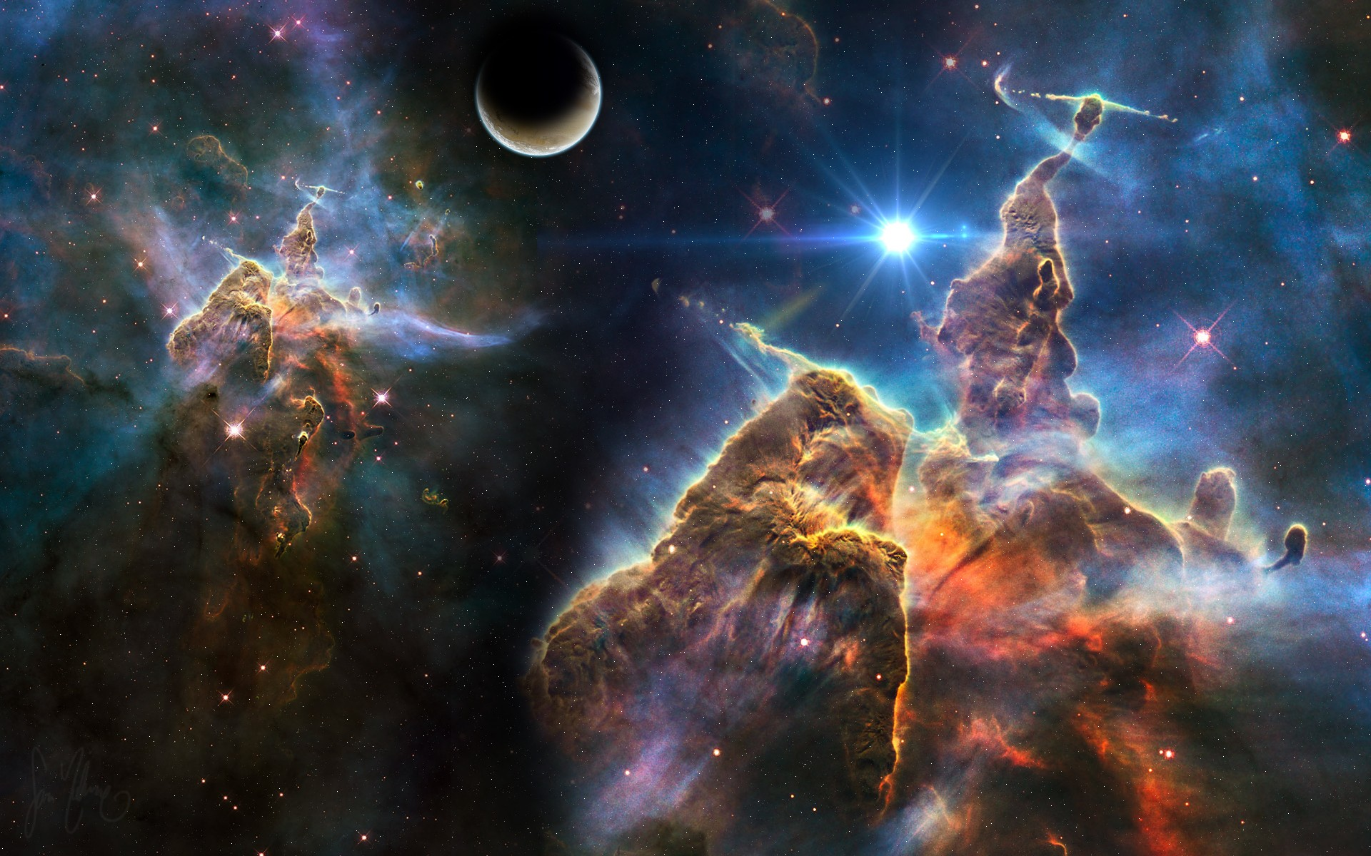 Nebula Full HD Wallpaper And Background Image