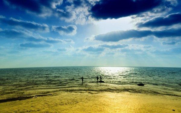 Photography Fisherman Fishing Sky People Ocean Sea Horizon HD Wallpaper | Background Image