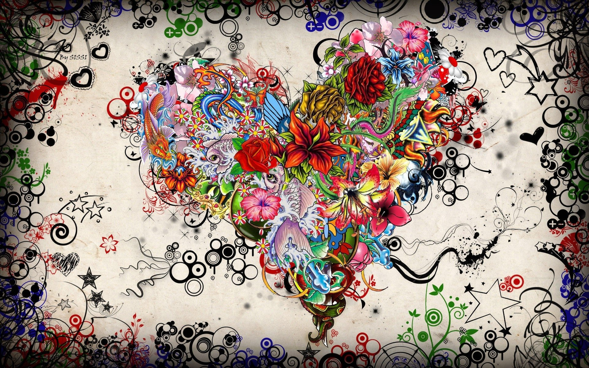 Artistic - Heart  Psychedelic Valentine's Day Fantasy Wallpaper