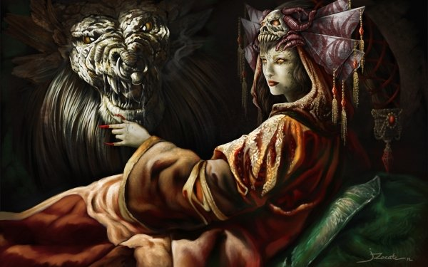Oscuro Demonio Fantasía Monstruo Criatura Evil Oculto Fondo de pantalla HD | Fondo de Escritorio