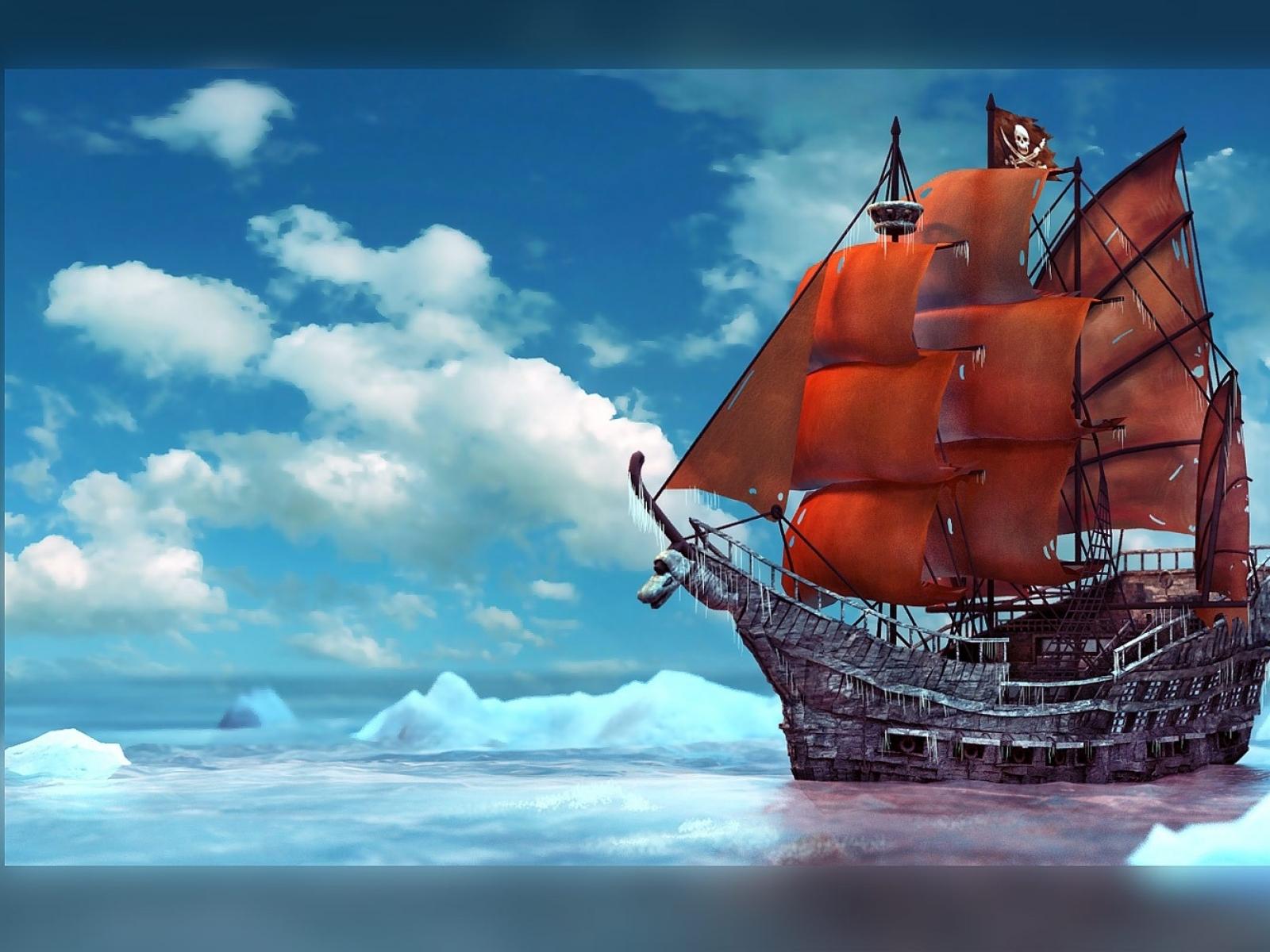 Пиратский корабль обои на рабочий стол