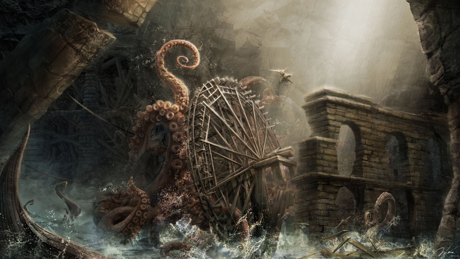 Kraken iphone wallpaper