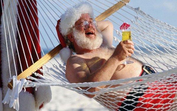 Holiday Christmas Santa Humor Cocktail HD Wallpaper | Background Image