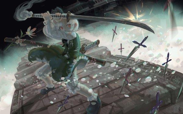 Anime Touhou Youmu Konpaku HD Wallpaper   Background Image