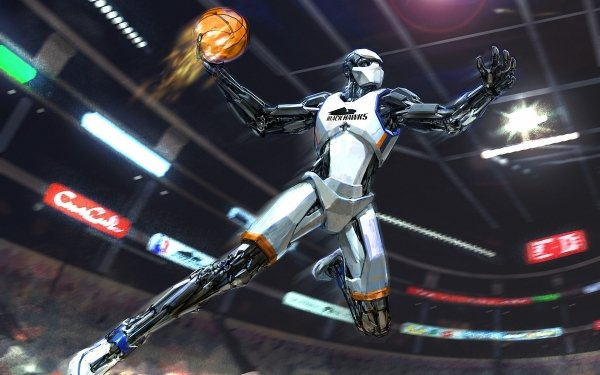 Sci Fi Robot Cyborg Basketball HD Wallpaper | Background Image