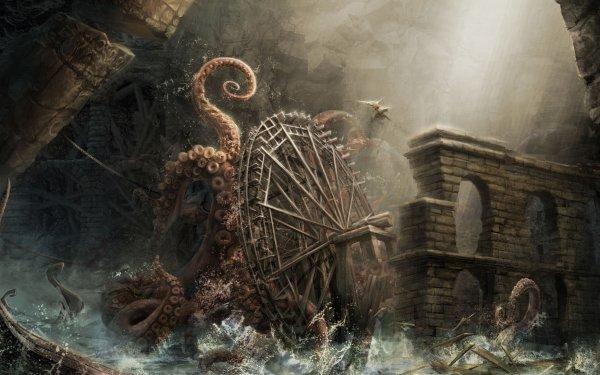 Fantaisie Kraken Fond d'écran HD | Image