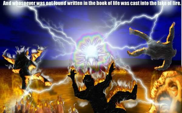 Oscuro Oculto Armageddon Apocalypse Fuego Scripture Llama Hell Pain Fondo de pantalla HD | Fondo de Escritorio