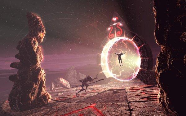 Sciencefiction Donker Alien Portal HD Wallpaper | Achtergrond