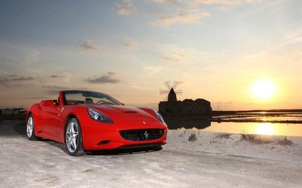 Vehicles Ferrari Red Windmill Car Sport Car HD Wallpaper | Background Image