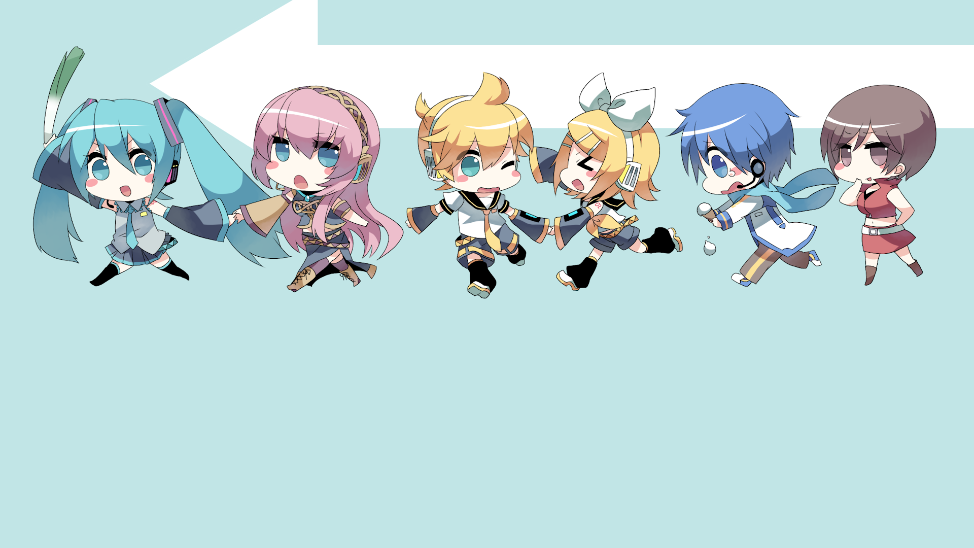 chibi vocaloid full hd wallpaper and background image