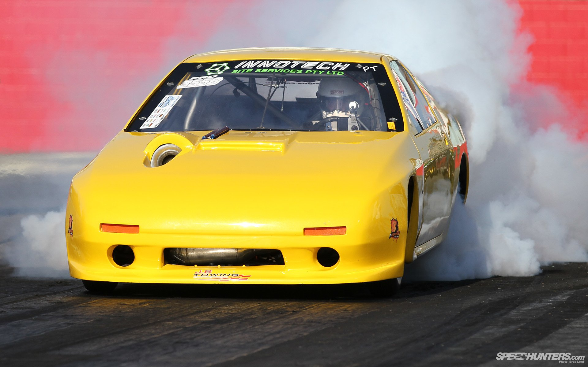 Vehicles - Drag Racing  Mazda Race Car Drag Race Burnout Wallpaper
