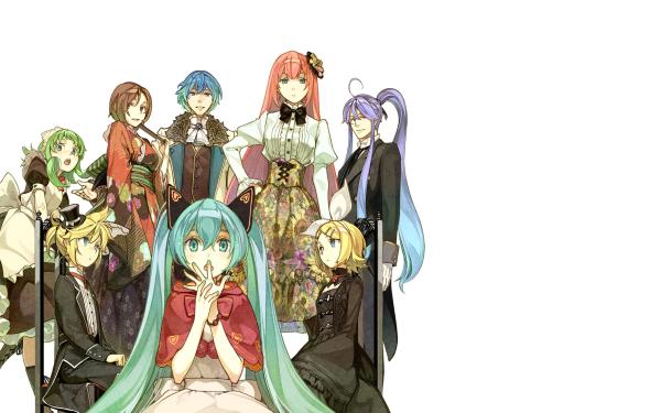 Anime Vocaloid Hatsune Miku Rin Kagamine Len Kagamine Meiko Kaito GUMI Kamui Gakupo HD Wallpaper | Background Image