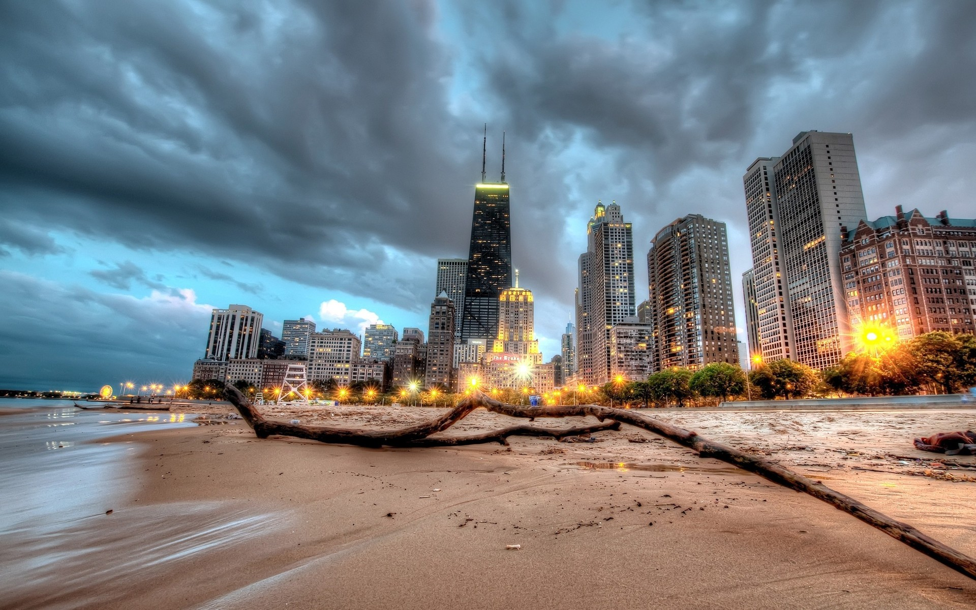 City Of Chicago Full HD Wallpaper And Background Image