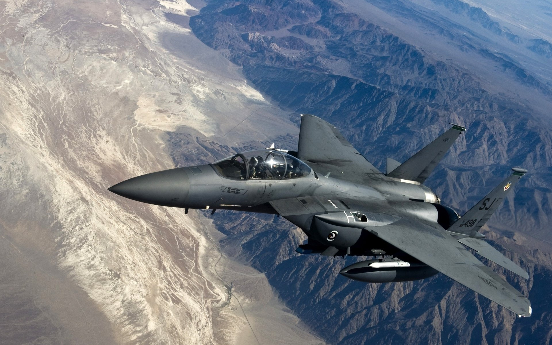 Military - McDonnell Douglas F-15E Strike Eagle  Airplane Jet Fighter Fly Wallpaper