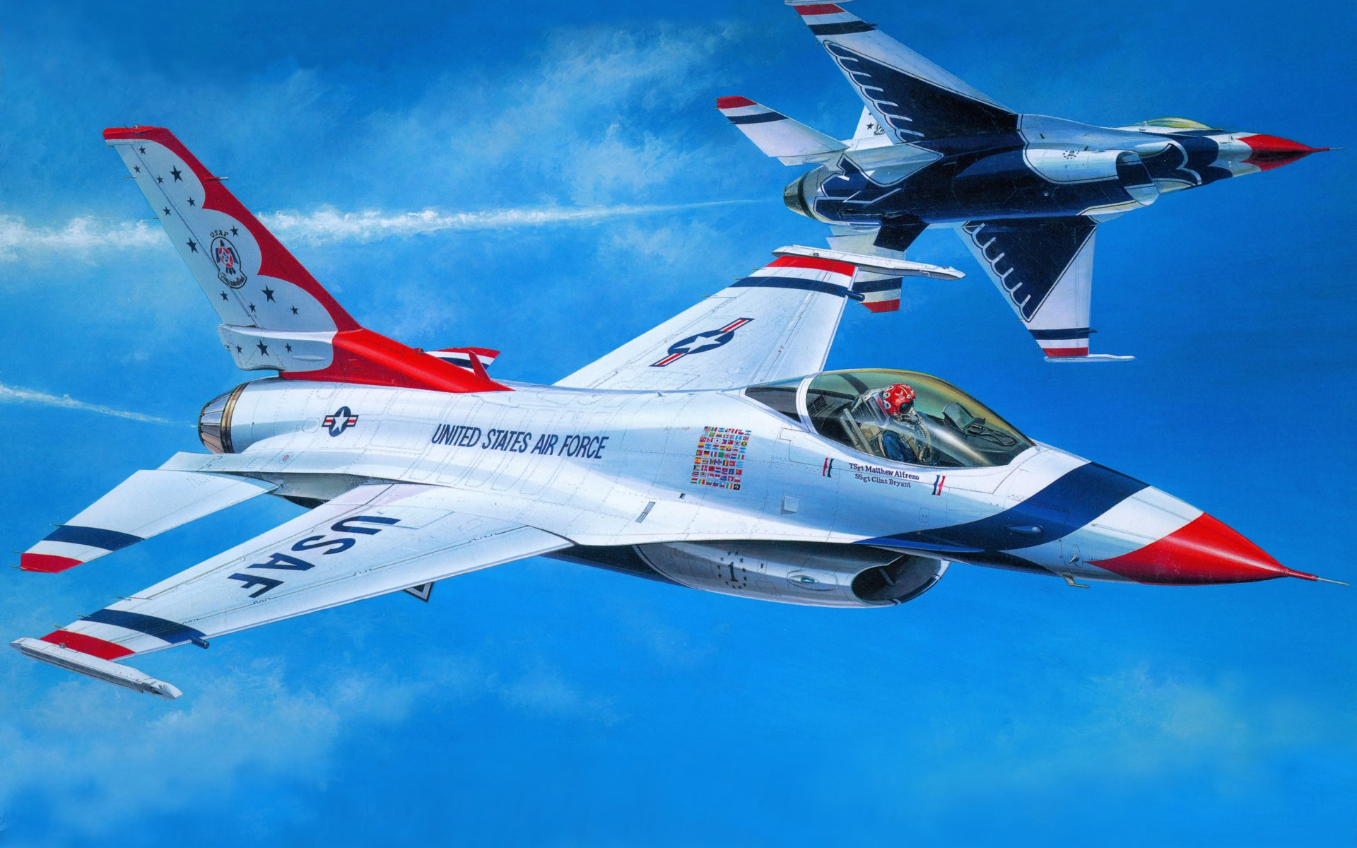 Military - General Dynamics F-16 Fighting Falcon  Airplane Jet Fighter Fly Wallpaper