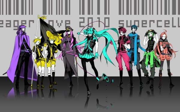 Anime Vocaloid GUMI CUL Kamui Gakupo IA Hatsune Miku Luka Megurine Rin Kagamine Len Kagamine HD Wallpaper | Background Image