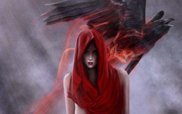 Oscuro Bruja Fantasía Cuervo Oculto Death Fondo de pantalla HD | Fondo de Escritorio