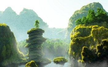 CGI - Landschap Wallpapers and Backgrounds ID : 310030