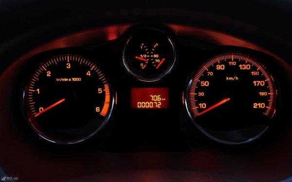 Vehicles Peugeot 206 Peugeot Close-Up Car Tachometer Gauge HD Wallpaper | Background Image