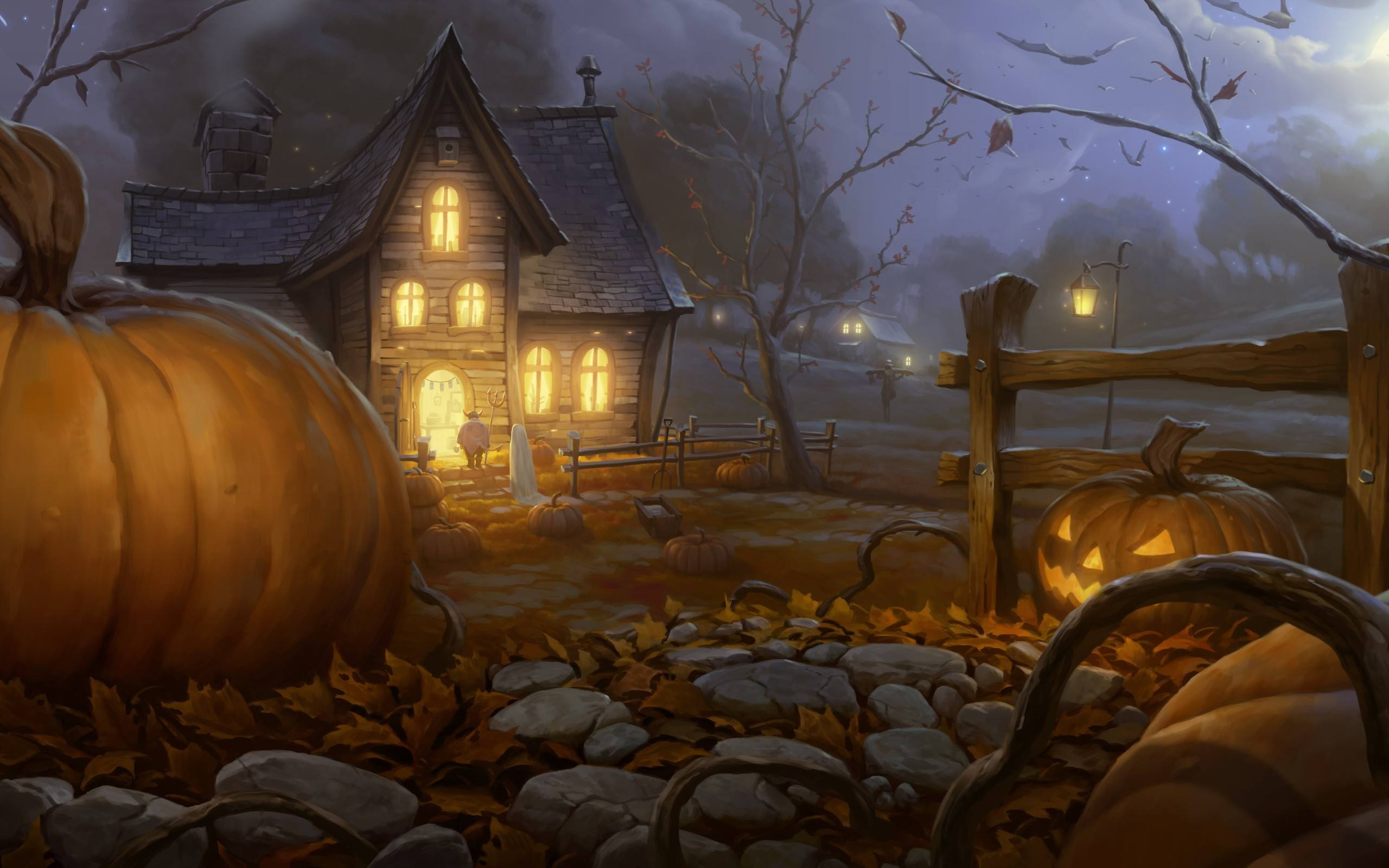 Holiday - Halloween  - Pumpkin Wallpaper