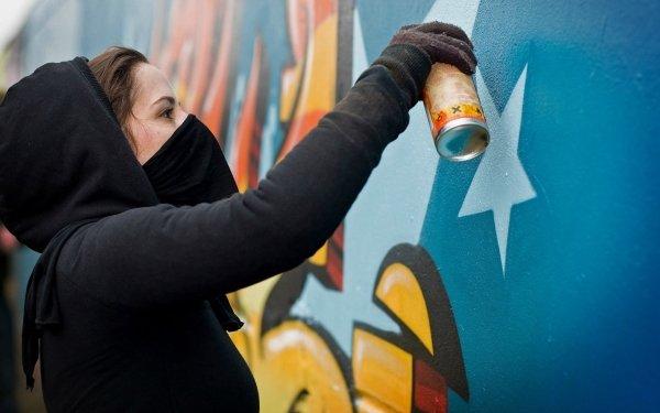 Artistic Graffiti Anarchy HD Wallpaper   Background Image