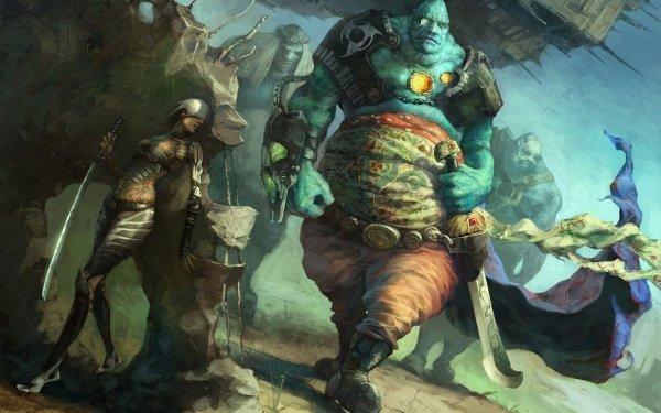 Jeux Vidéo Dominance War Guerrier Fantaisie Arme Epée Ogre Créature Fond d'écran HD   Image
