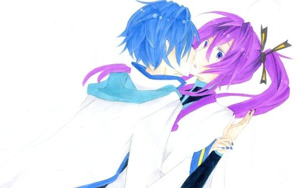 Anime Vocaloid Kamui Gakupo Kaito Yaoi Kiss HD Wallpaper | Background Image