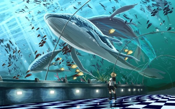 Anime Vocaloid Whale Len Kagamine HD Wallpaper | Background Image