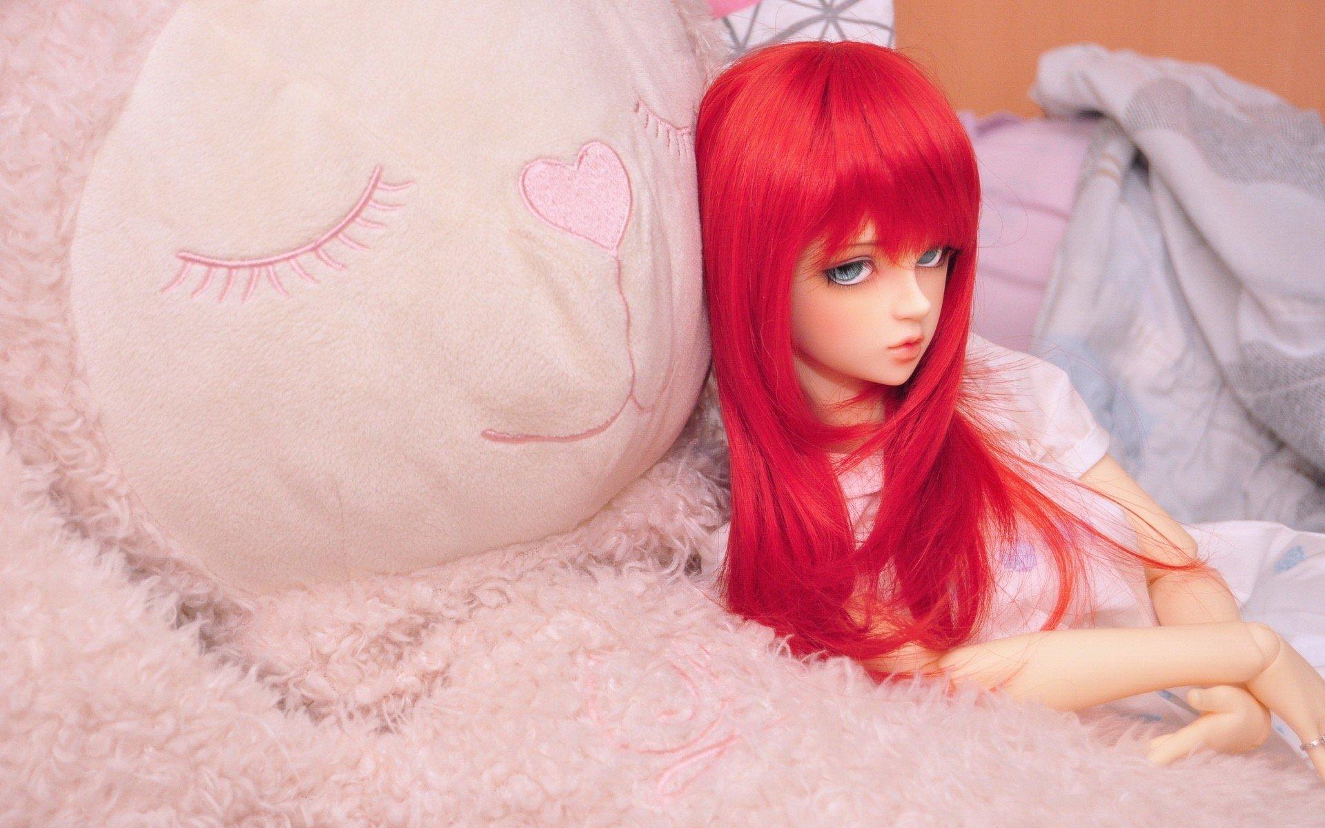 摄影 - 可爱  洋娃娃 Teddy Bear 玩具 秀发 壁纸