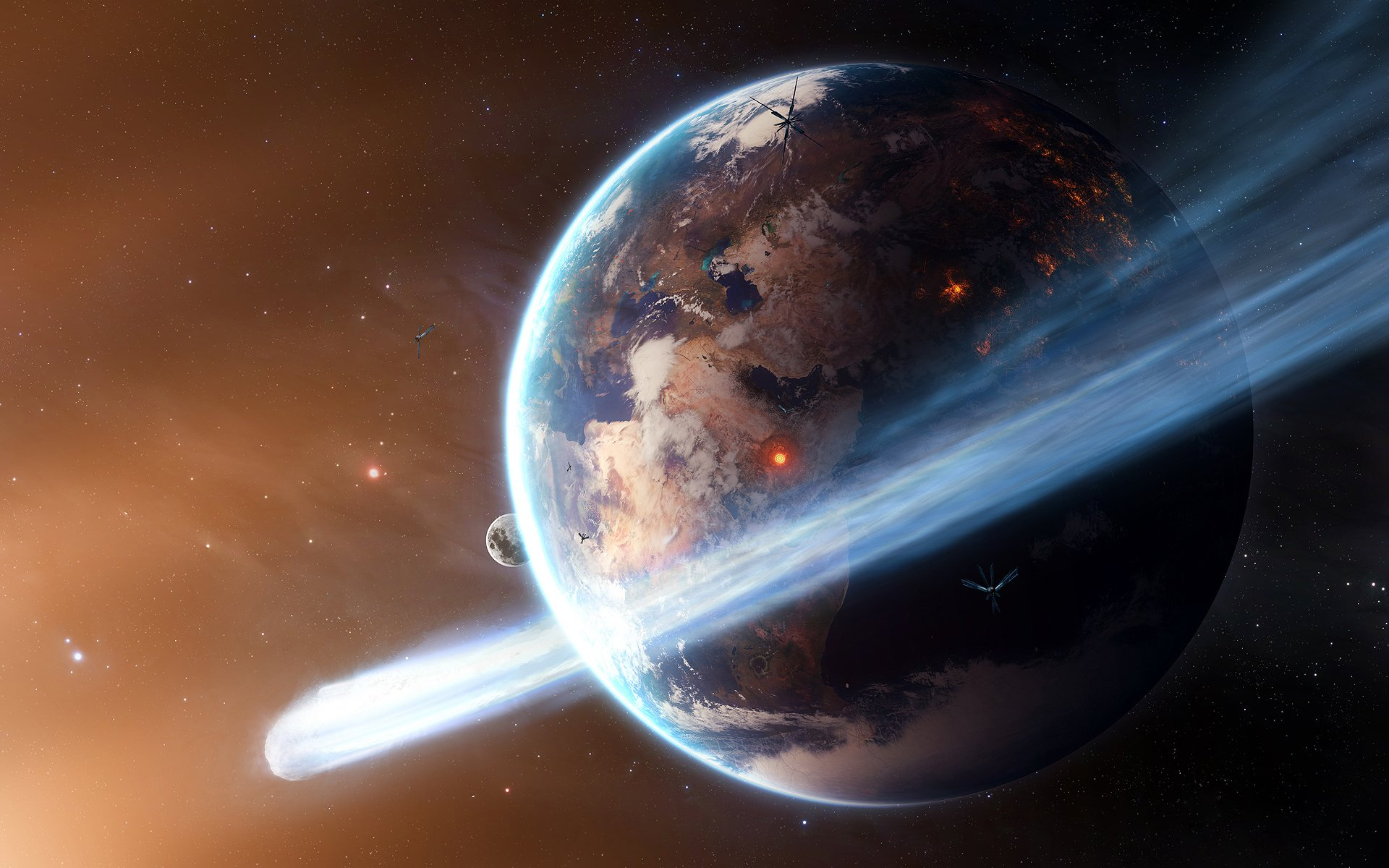 The destruction of Earth [Wallpaper Reviews news tips and