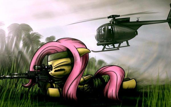 Series de Televisión My Little Pony: La magia de la amistad My Little Pony Fluttershy Gun Helicóptero Mágico Fondo de pantalla HD | Fondo de Escritorio