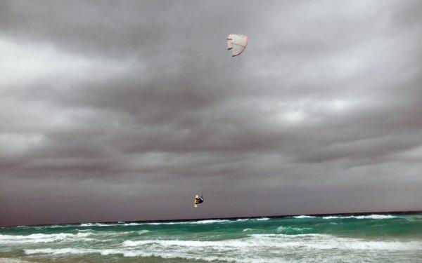 Sports Surf Planche à voile Océan Vague Sea Parachute Ciel Nuage Fond d'écran HD   Image