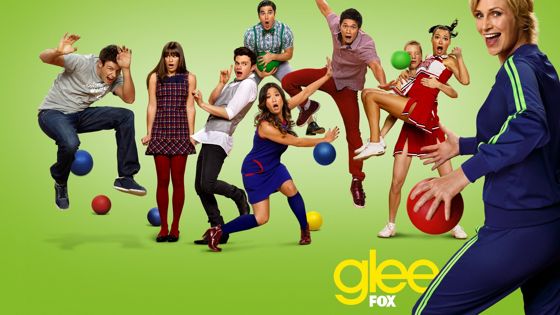 Glee full hd wallpaper and background image 1920x1080 id316414 tv show glee cory monteith finn hudson jane lynch sue sylvester lea michele rachel berry voltagebd