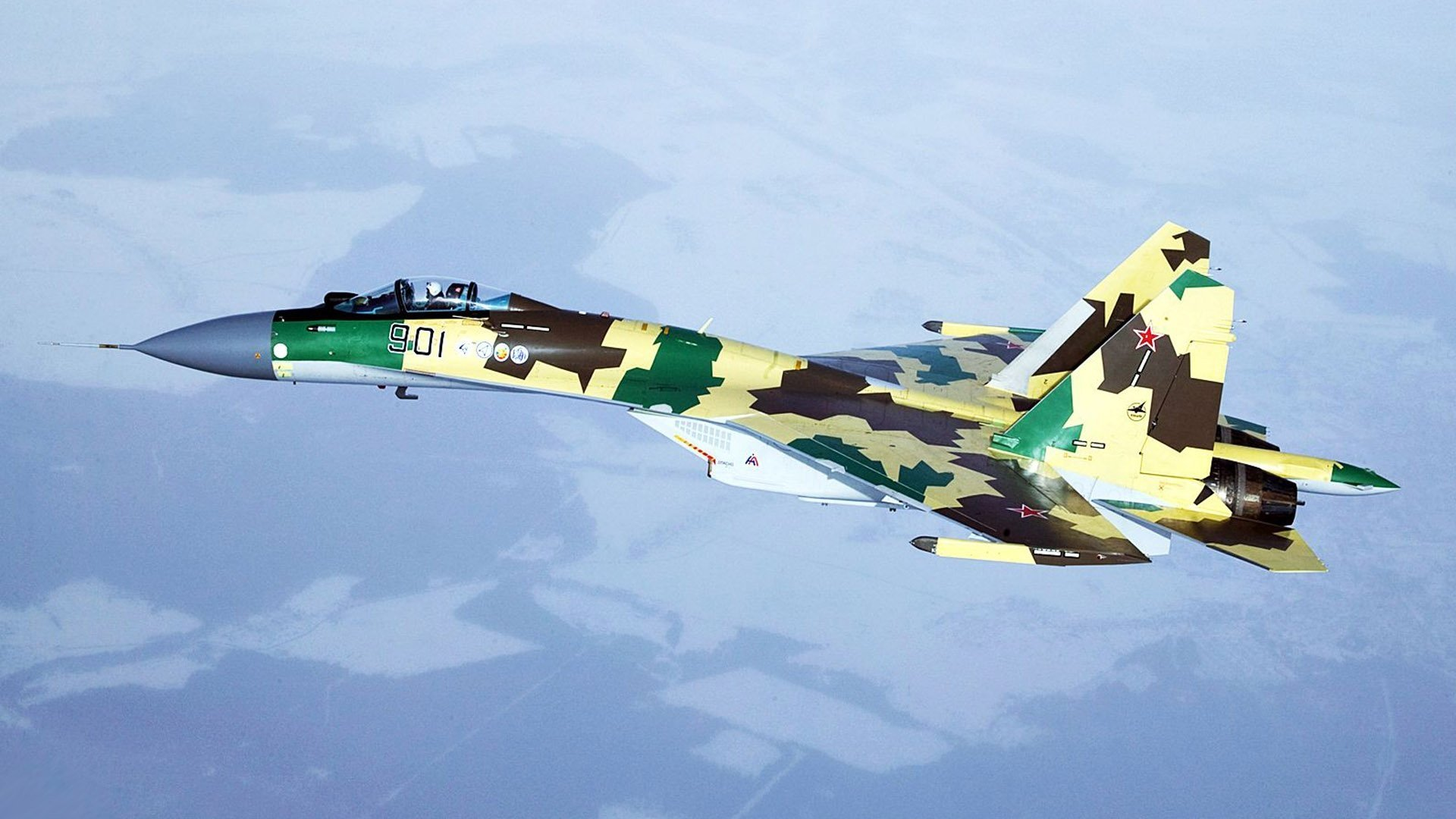 Military - Sukhoi Su-35  Military Aircraft Air Force Warplane Wallpaper