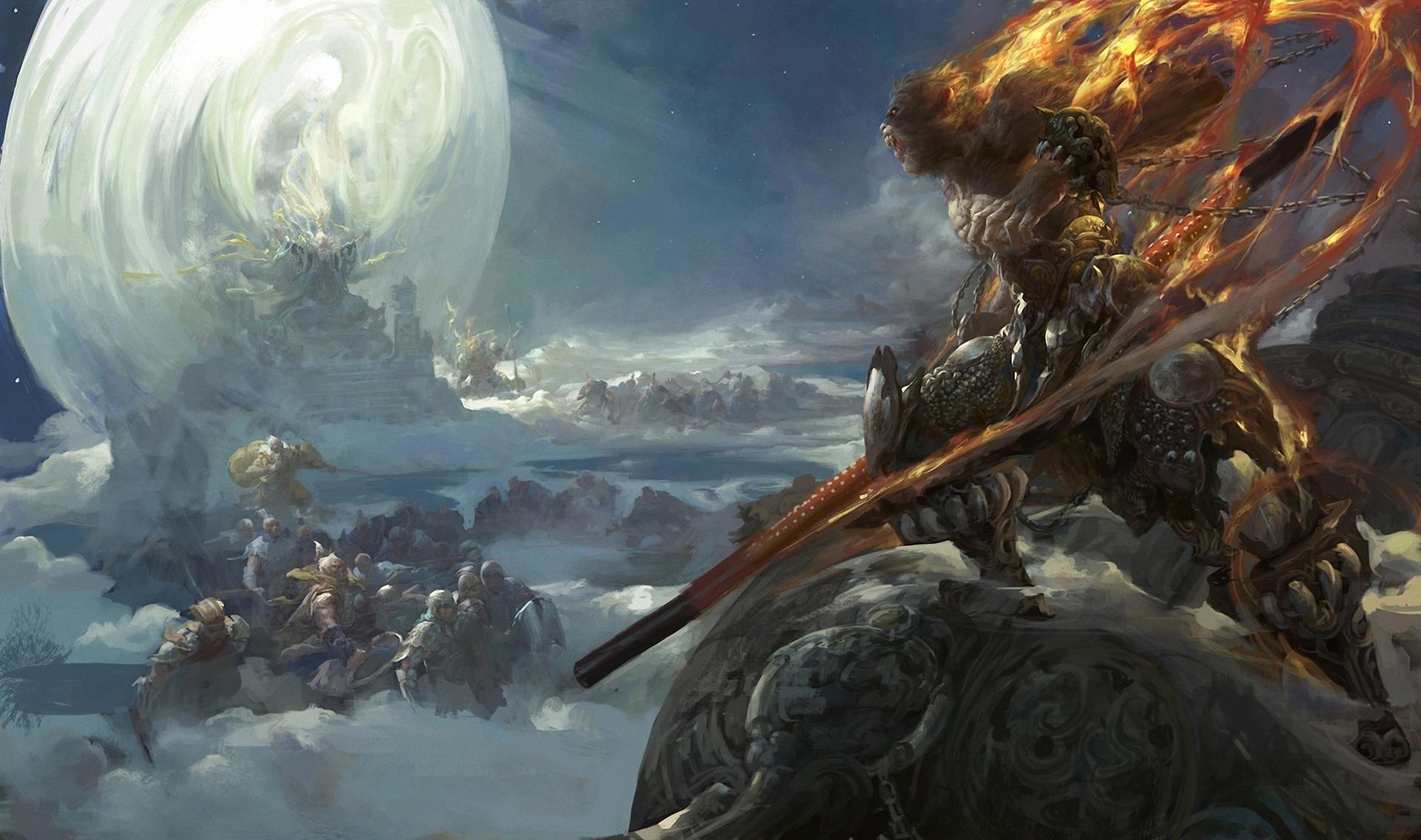 Fantasy Battle Scene Art - Fantasy Art Fenghua Zhong The Battle Begin