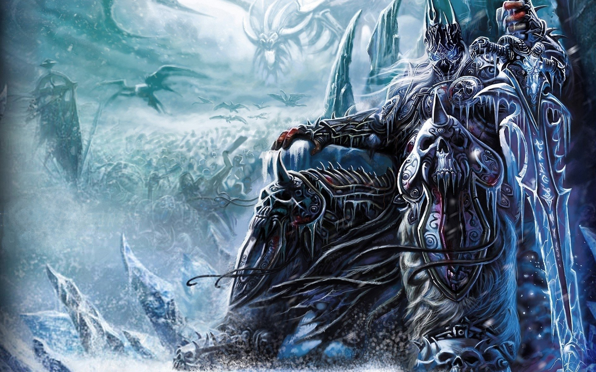 Video Game - World Of Warcraft  Creature Dark Game Lich King Wallpaper