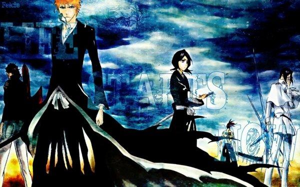 Anime Bleach Yasutora Sado Ichigo Kurosaki Renji Abarai Rukia Kuchiki Uryu Ishida Fondo de pantalla HD | Fondo de Escritorio