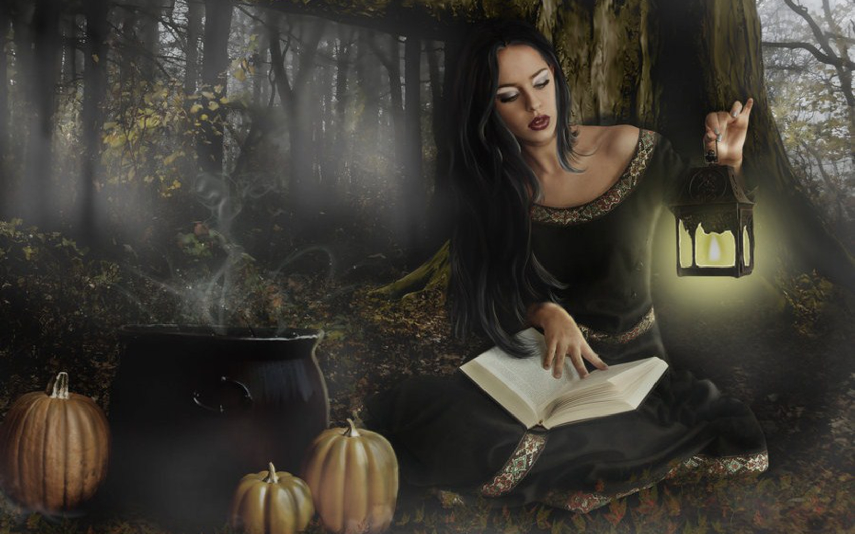 Fantasy - Women  Woman Book Wallpaper