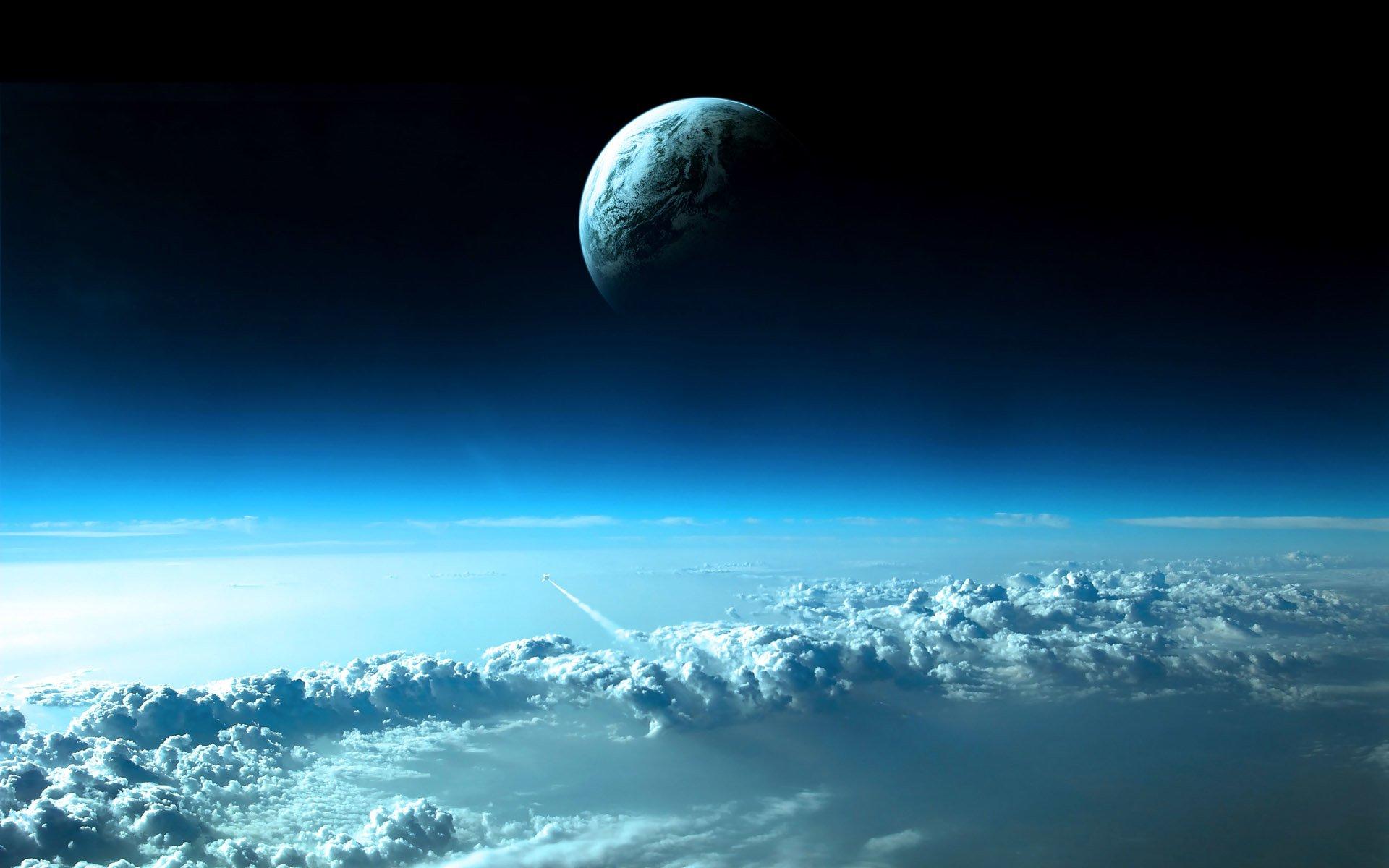 Научная Фантастика - Планетарный Ландшафт  Облака Планета Земля/природа Обои