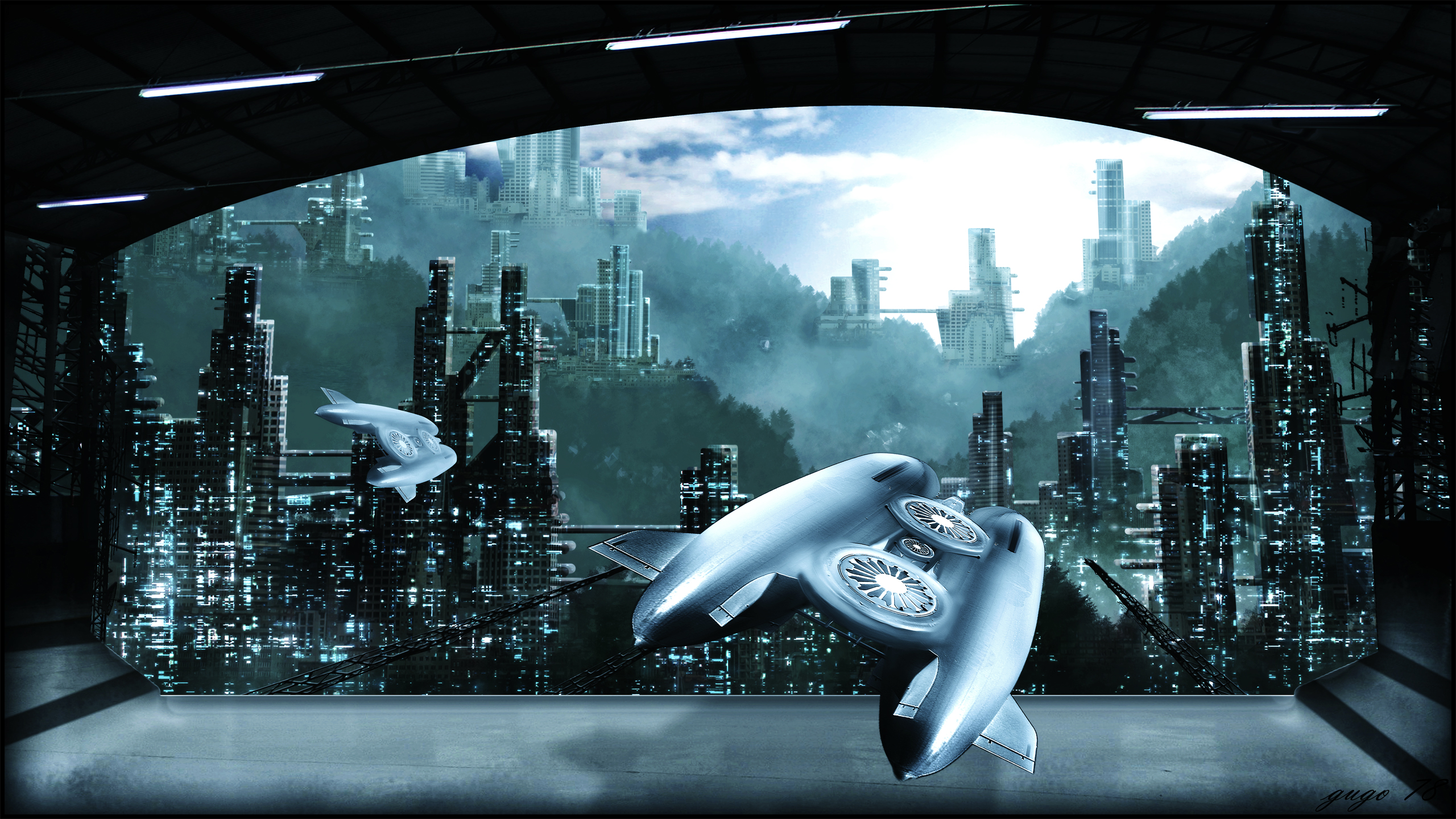Sci Fi Wallpaper 2560x1440: City HD Wallpaper