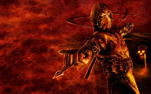 Video Game Mortal Kombat Scorpion HD Wallpaper   Background Image