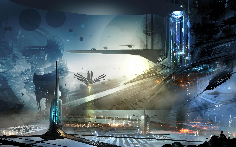 Sci Fi Landscape Wallpaper 2144x1206