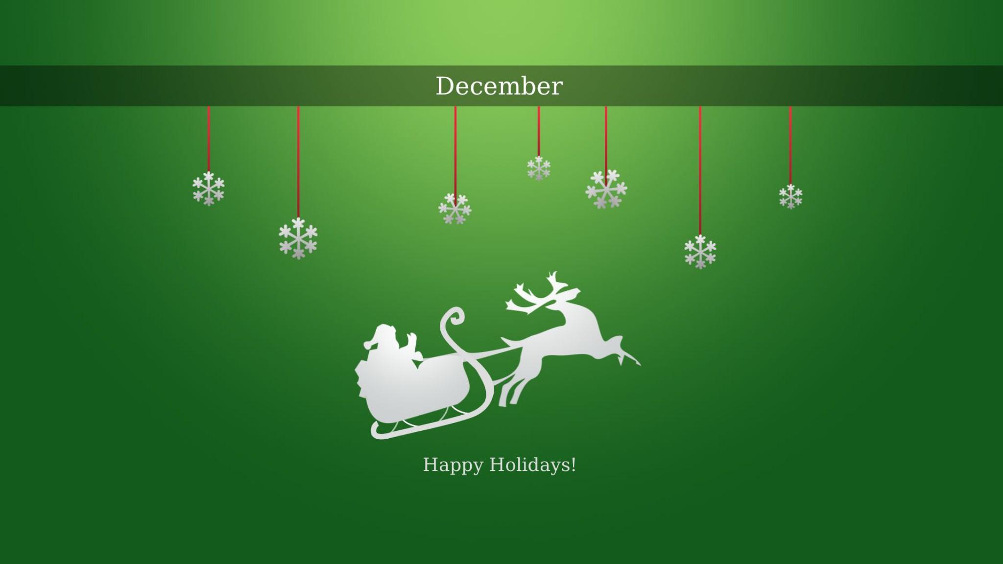Happy Holidays Hd Wallpaper Hintergrund 2048x1152 Id