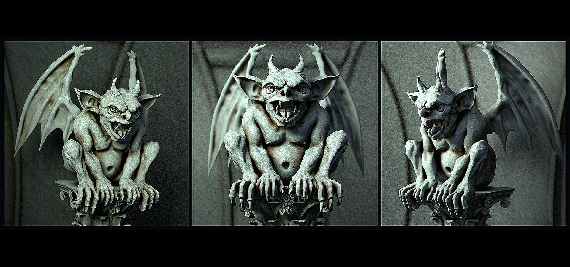Gargoyle Wallpaper And Background 1920x900 Id 328764 HD Wallpapers Download Free Images Wallpaper [1000image.com]