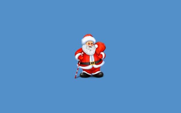 Holiday Christmas Santa Minimalist Blue HD Wallpaper | Background Image
