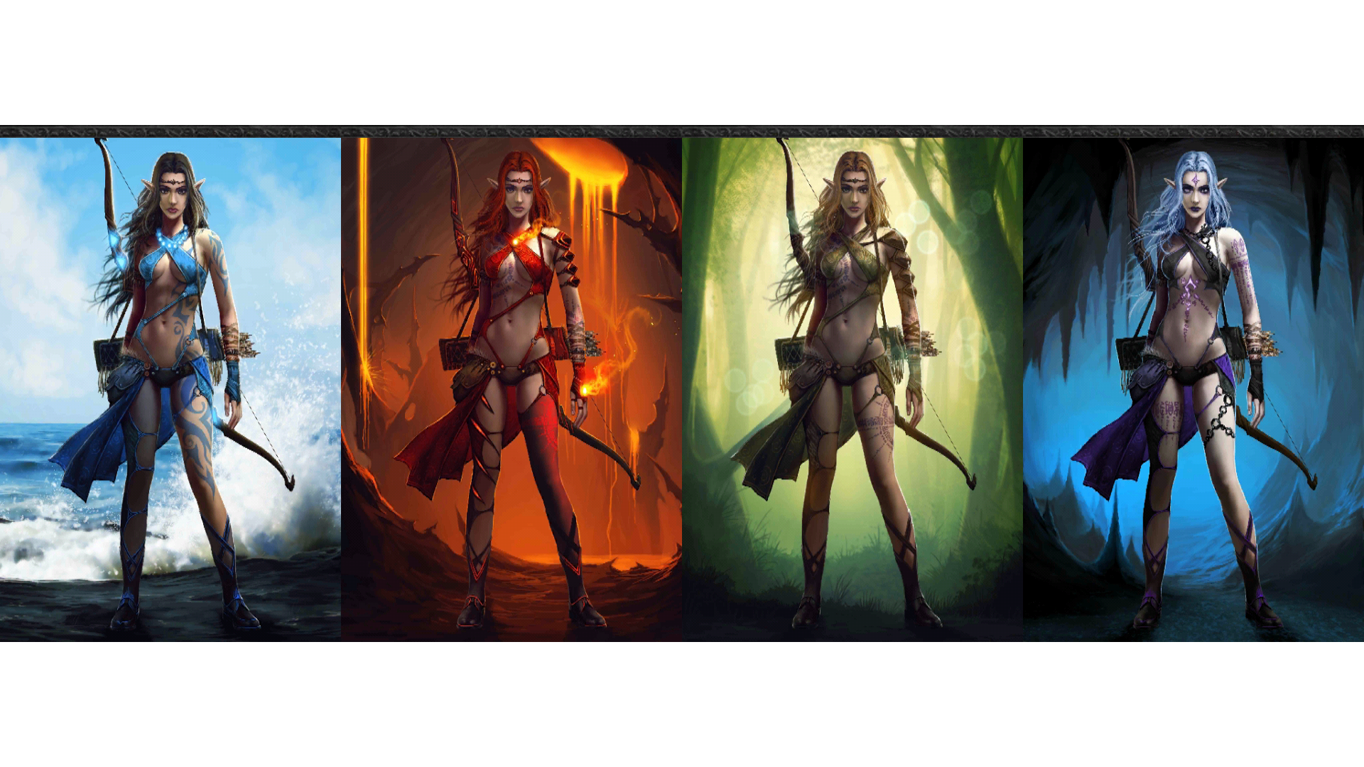 Pubg Wallpaper Png Hd: Four Elemental Archers, Evolution 2 Full HD Wallpaper And