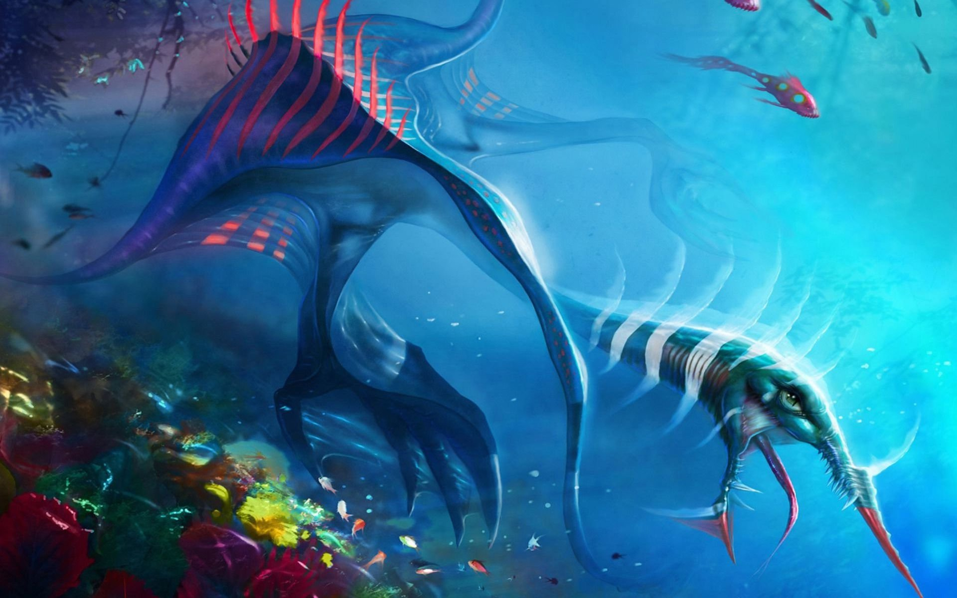 Fantasy - Sea Monster  Creature Underwater Wallpaper