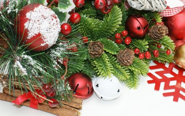 Holiday Christmas Christmas Ornaments Cinnamon HD Wallpaper | Background Image