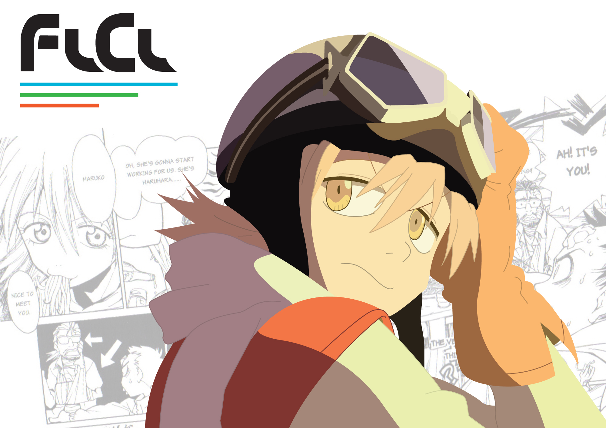 flcl full hd wallpaper and background image 2000x1413